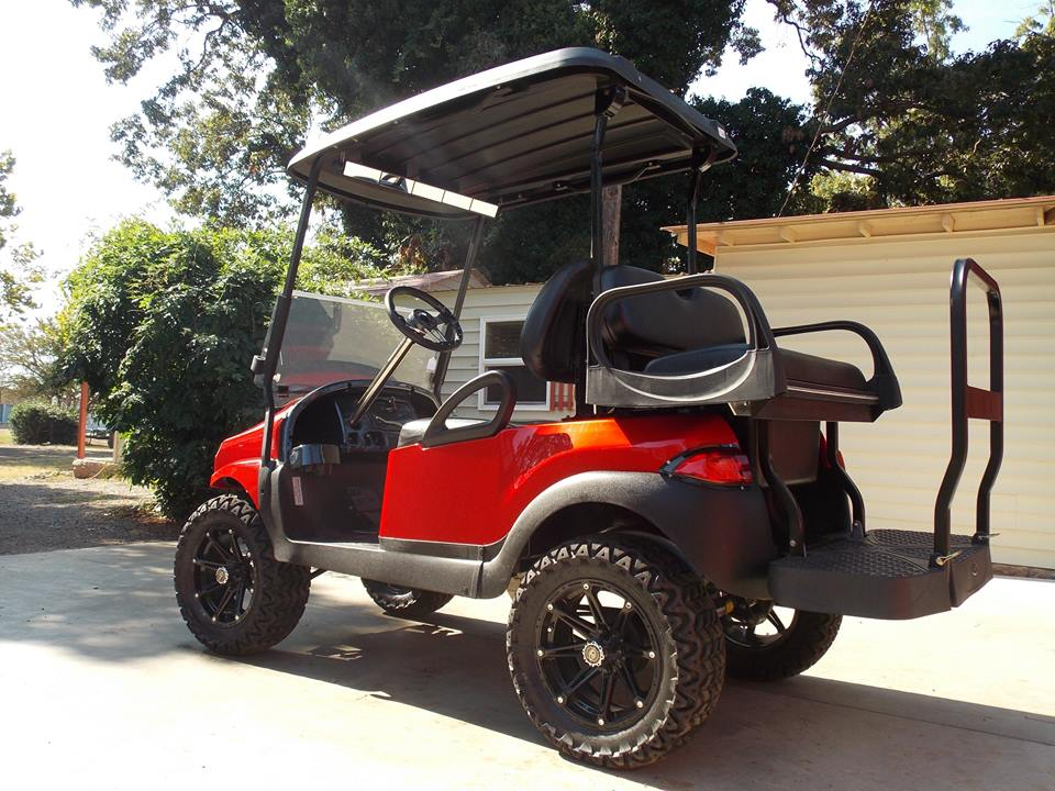 Ruby Red Phantom Club Car Precedent Golf Cart