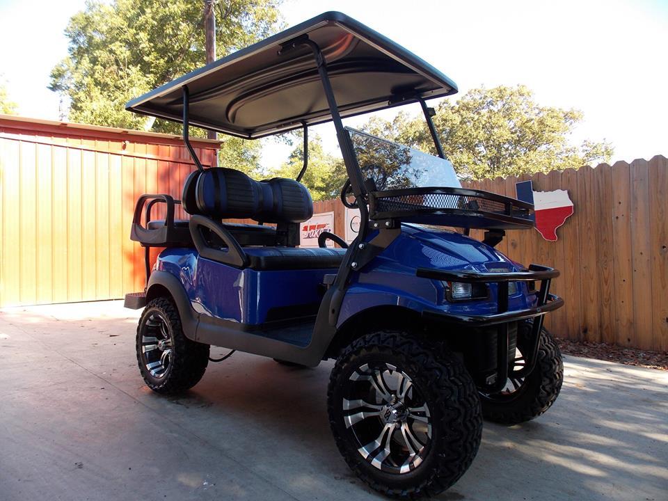 Royal Metallic Ss Club Car 48v Electric Lifted Golf Cart