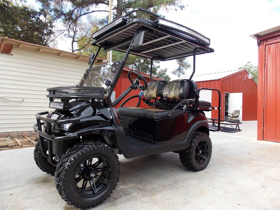 Apocalyptic Hunter Edition Phantom Club Car Precedent 48V Electric Lifted Golf  Cart. U203a