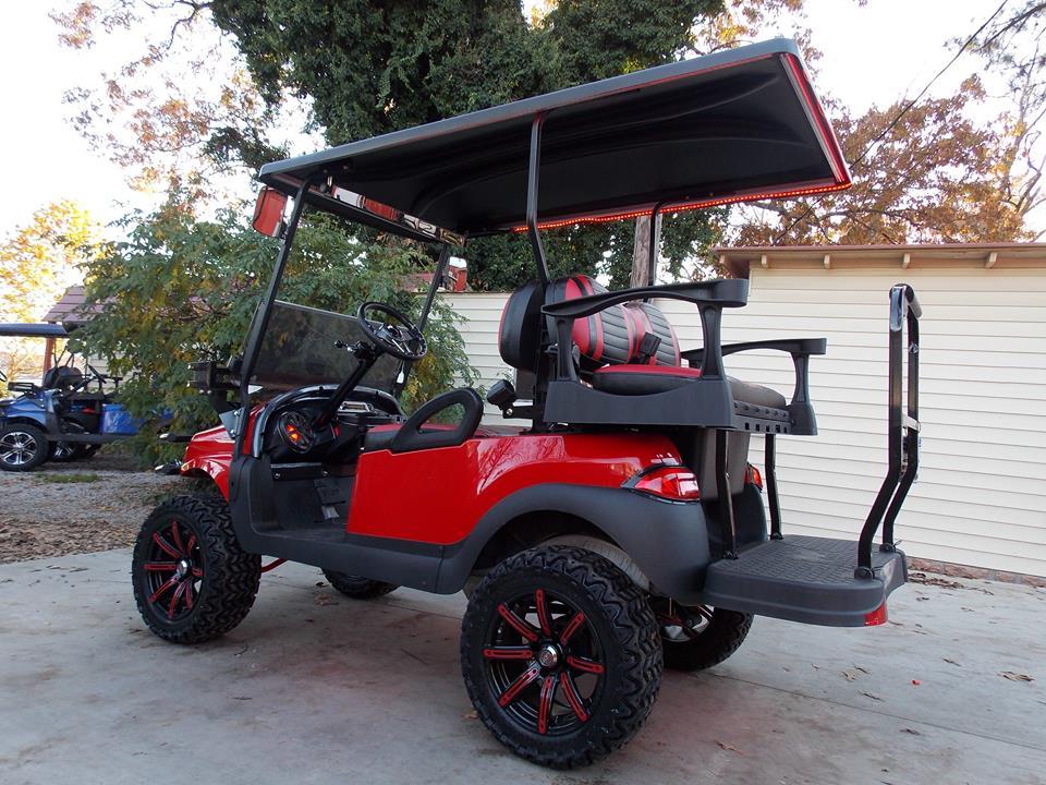 Cherry Red Phantom Xt Extreme Audio 48v Electric Golf Cart