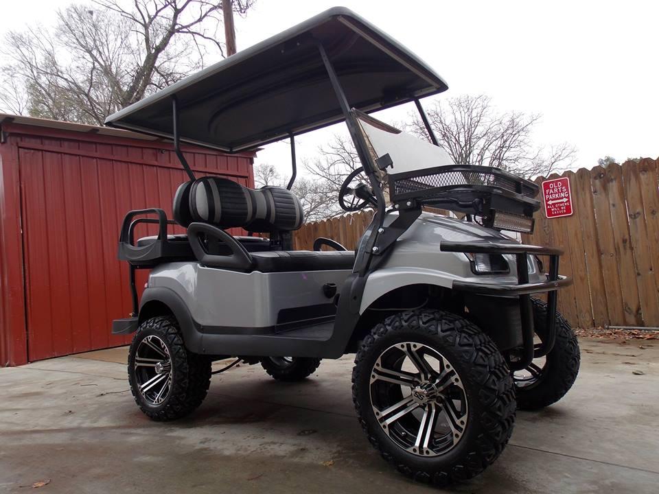 Silver Metallic Super Sport Edition Electric Golf Cart