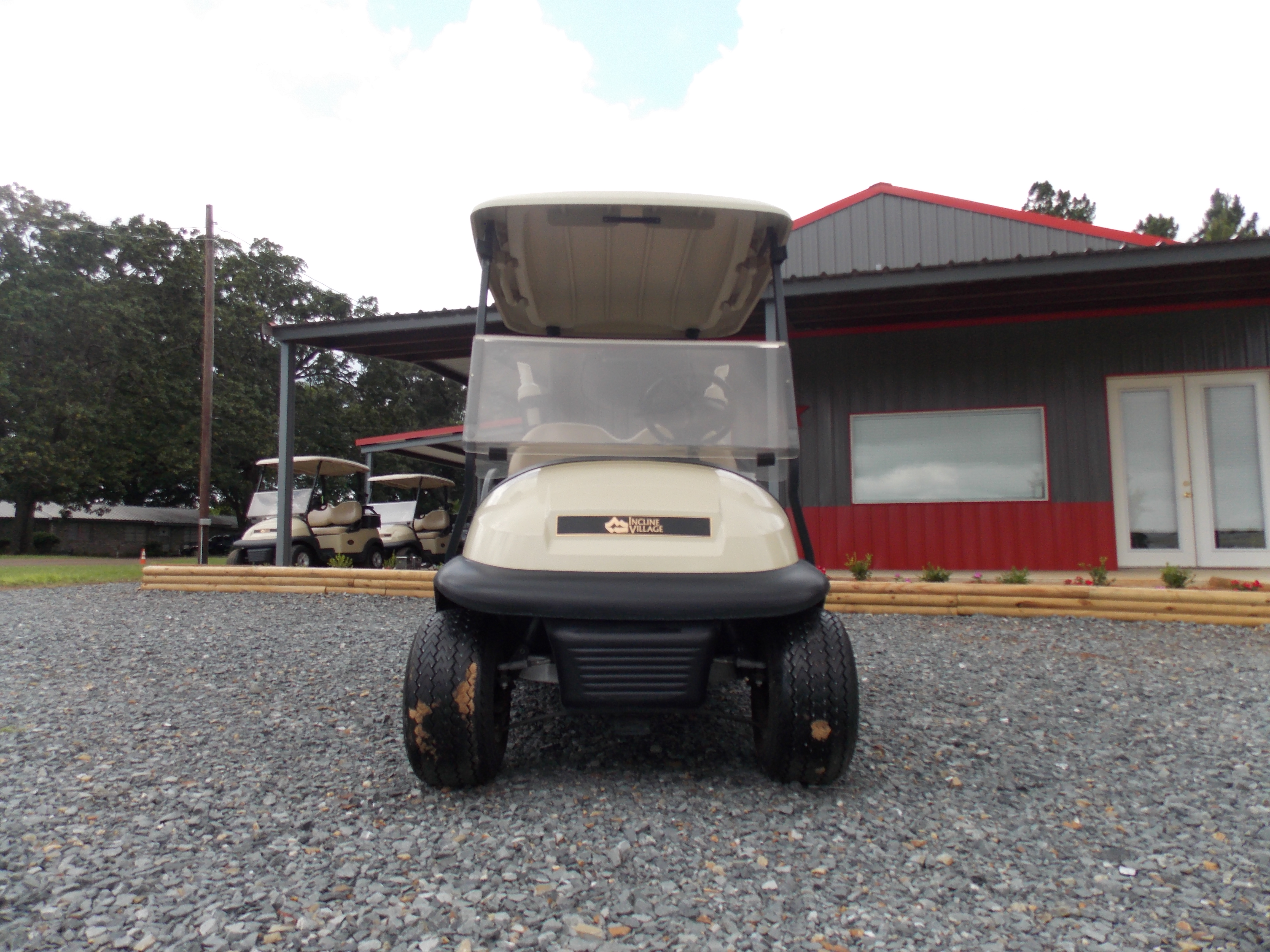 2015 Beige Club Car Precedent IQ 48V I2L Electric Golf Cart