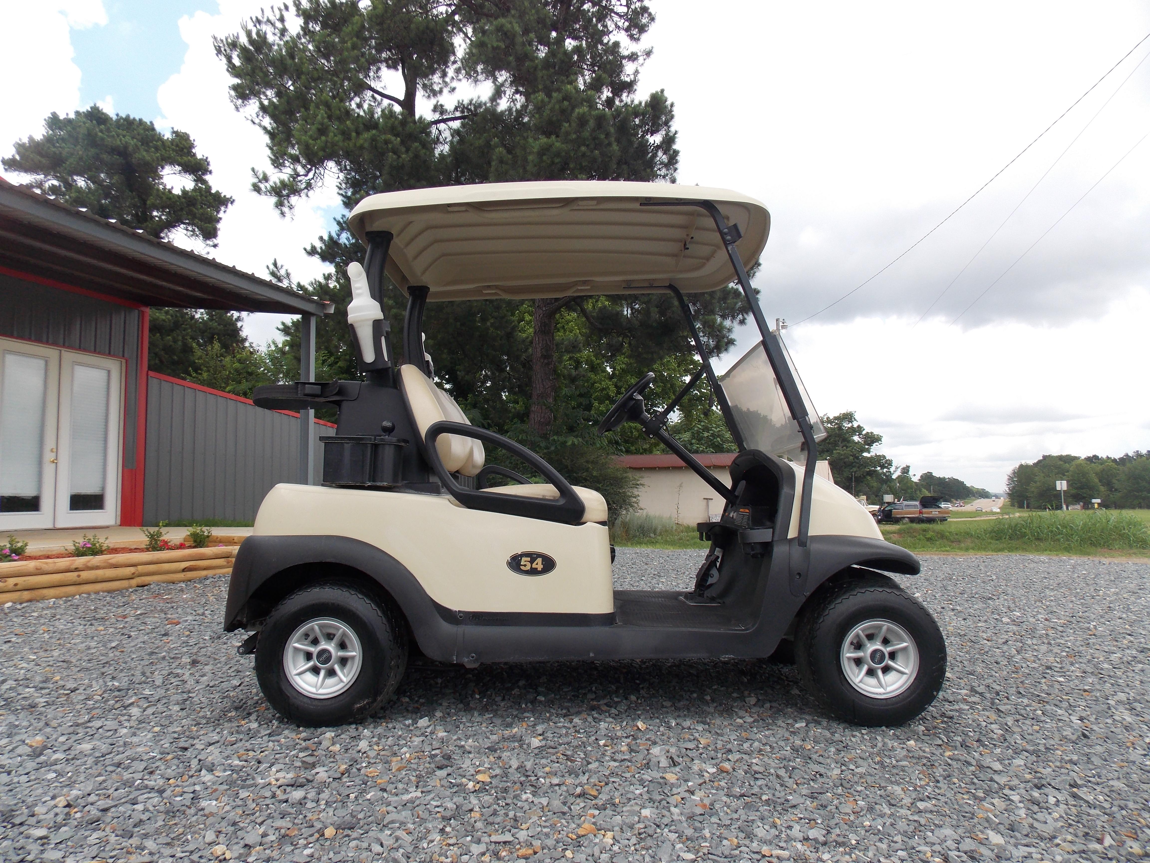 2015 Beige Club Car Precedent IQ 48V I2L Electric Golf Cart