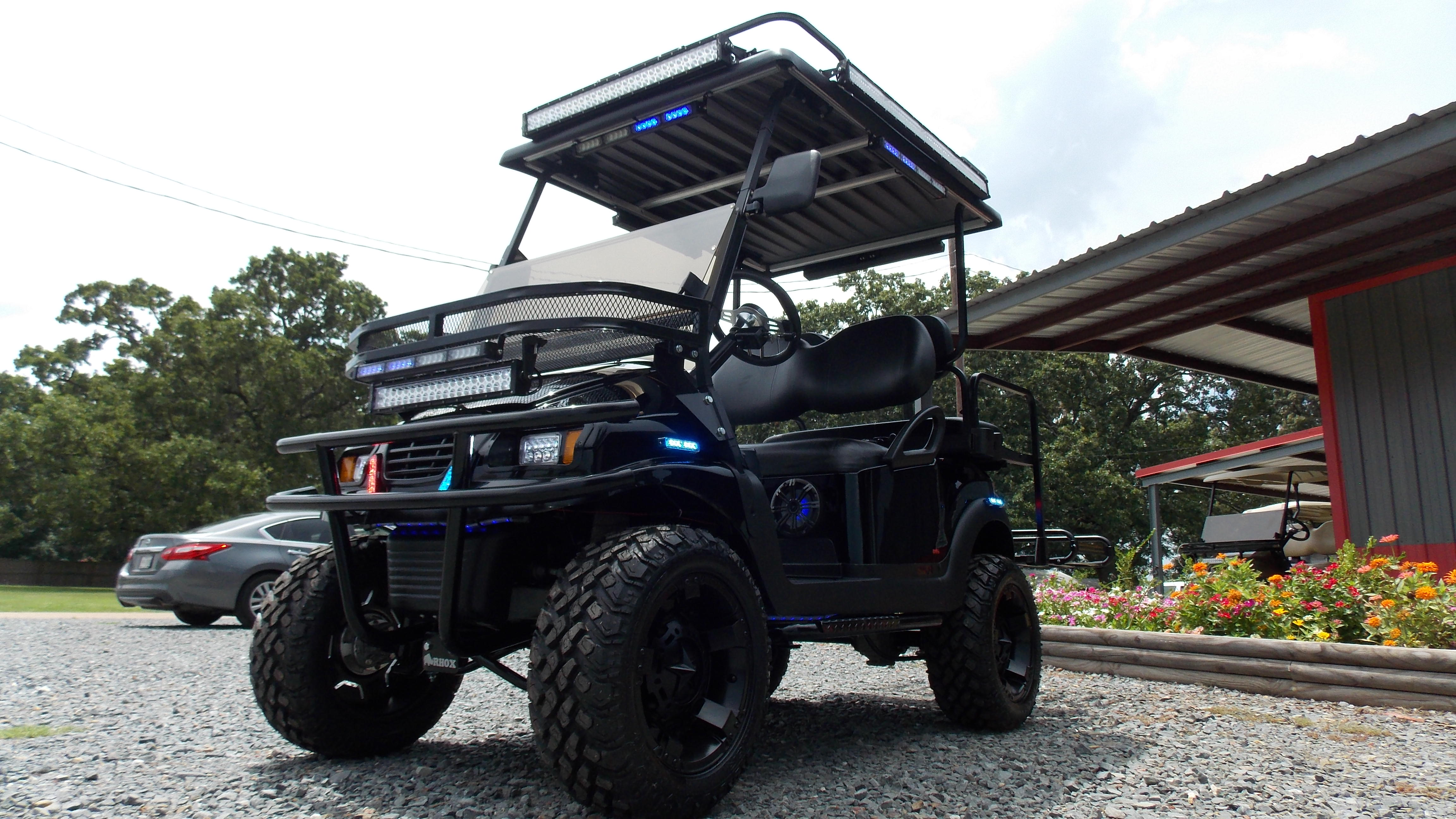 Prowl Edition Police Tatical Security Electric LSV Golf Cart on ezgo golf carts, concept golf carts, fancy golf carts, maintaining golf carts, smiths golf carts, turbo golf carts, star golf carts, new street legal golf carts, used golf carts, street-legal gas golf carts, lsu golf carts, lit golf carts, custom golf carts, extreme golf carts, utv golf carts, gem golf carts, yamaha golf carts, bubble golf carts, nev golf carts, electric golf carts,