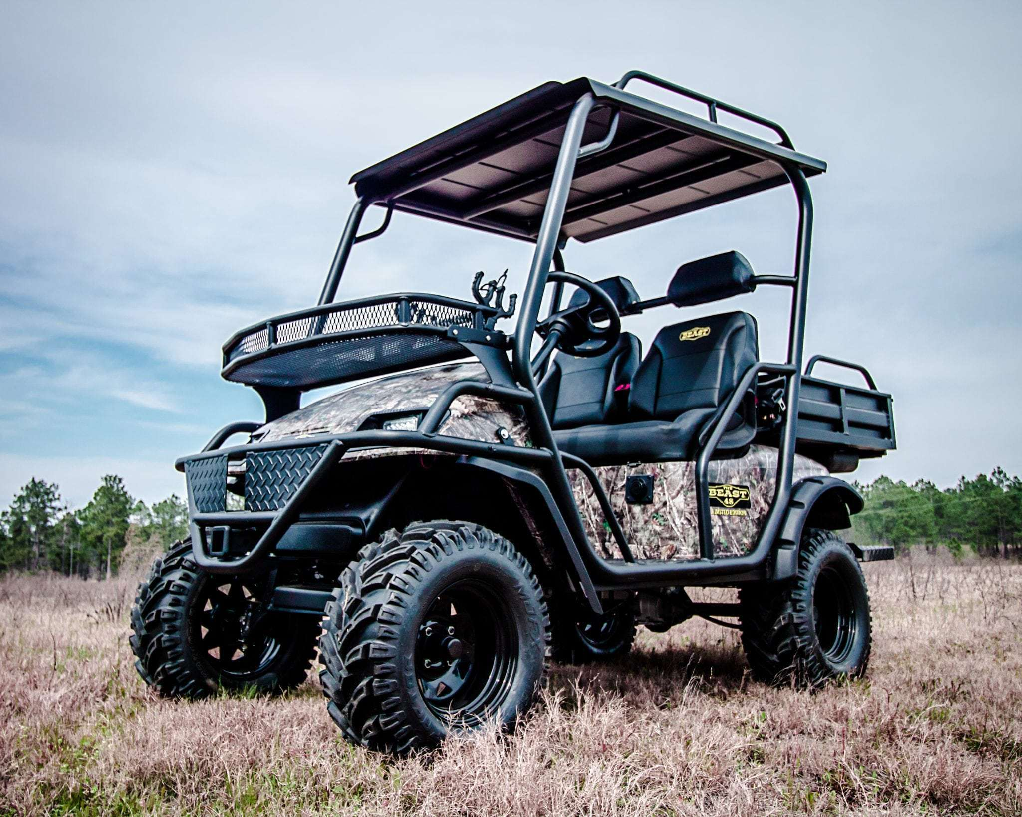 Beast 48v Electric Limited Edition 2 Wheel Drive Custom Lifted Hunting Golf Cart