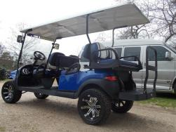 Blue Metallic Phantom Edition Limo Precedent Electric Golf Cart