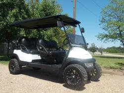 White Rock Star Edition Phantom Stretch Limo Golf Cart